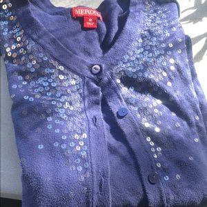 Merona Sweaters - Dark Blue Embellished 3/4 Sleeve Merona Cardigan